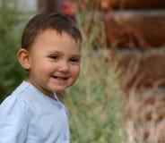 Sourire d'enfant en bas âge de bébé Images libres de droits