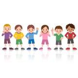 Sourire d'enfants à aligner illustration de vecteur