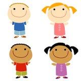 Sourire d'enfants de Cartoonish Photos stock