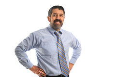 sourire d'hispanique d'homme d'affaires Image stock