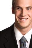 Sourire d'homme d'affaires Image libre de droits