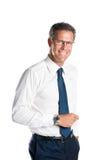 sourire d'homme d'affaires Image stock