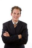 sourire d'homme d'affaires réussi photographie stock libre de droits