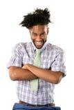 Sourire d'homme d'afro-américain Photographie stock libre de droits