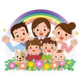 Sourire d'une famille heureuse illustration stock