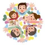 Sourire d'une famille heureuse illustration libre de droits