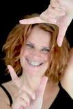Sourire dans une trame photo stock