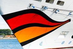 Sourire de bateau de croisière d'Aida Mar Image stock
