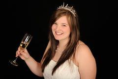 sourire de boissons de mariée Images libres de droits