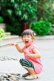 sourire de Chinois d'enfant Images libres de droits