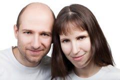 Sourire de couples Photographie stock