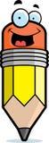 Sourire de crayon Image stock