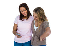 Sourire de deux filles Photographie stock libre de droits