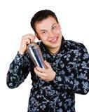 sourire de dispositif trembleur de barman Images stock