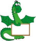 Sourire de dragon vert. Illustration de Vecteur