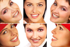 Sourire de femme Photos libres de droits