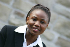 Sourire de femme d'affaires Photo stock