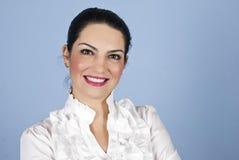 Sourire de femme d'affaires de verticale Images stock