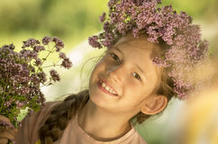 Sourire de fille Image libre de droits