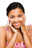 sourire de fille d'afro-américain d'adolescent Image libre de droits