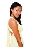 sourire de fille d'afro-américain d'adolescent Photos libres de droits