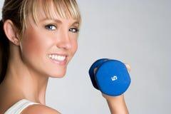 sourire de fille de forme physique Photo stock