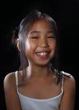sourire de fille de l'Asie Images stock