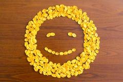 Sourire de flocons d'avoine photo libre de droits