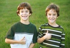 Sourire de garçons Photographie stock libre de droits