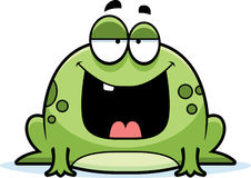 Sourire de grenouille de bande dessinée Photographie stock