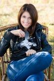 Sourire de jeune femme Images libres de droits