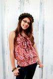 Sourire de l'adolescence photo libre de droits