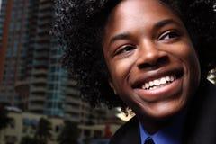 Sourire de l'adolescence Image stock