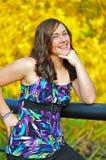 Sourire de l'adolescence de fille Photographie stock