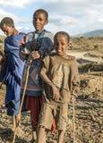 Sourire de Mara de masai Photographie stock