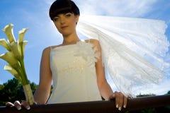 sourire de mariée image stock