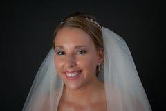 Sourire de mariées Images libres de droits