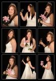 sourire de montage de mariée photos stock