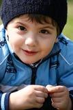 Sourire de petit garçon photographie stock
