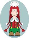 Sourire de petit garçon de Christmass Image libre de droits