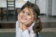 Sourire de petite fille Photographie stock