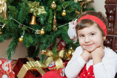 Sourire de petite fille Image stock