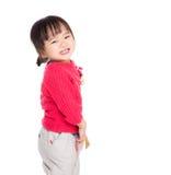 Sourire de petite fille de l'Asie images libres de droits