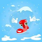 Sourire de Santa Boots Cartoon Christmas Character Photographie stock libre de droits