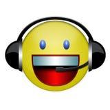 sourire de signe d'écouteur illustration de vecteur