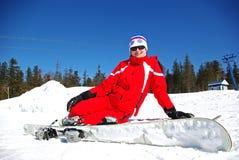 sourire de skieur Images libres de droits