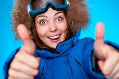 Sourire de Snowboarder Image libre de droits