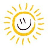 Sourire de Sun Photo libre de droits