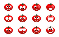 Sourire de tomate Photos stock