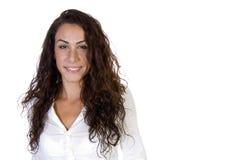 sourire de verticale de dame Photographie stock libre de droits